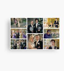 John and Mary Watson's Wedding Sherlock BBC   Canvas Print