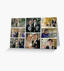 John and Mary Watson's Wedding Sherlock BBC   Greeting Card