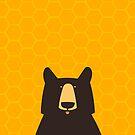 Black Bear Honeycomb by andyjdufort
