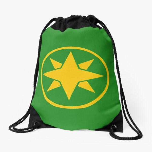 Green Samurai Ranger Drawstring Bag