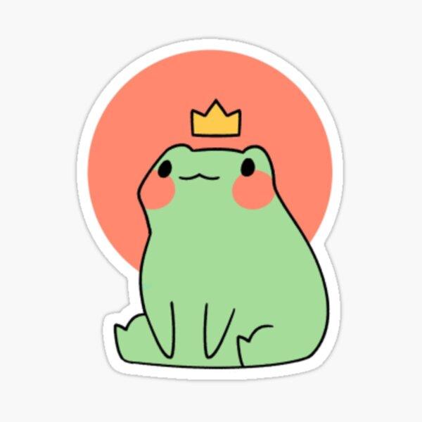 cute frog in crown Sticker