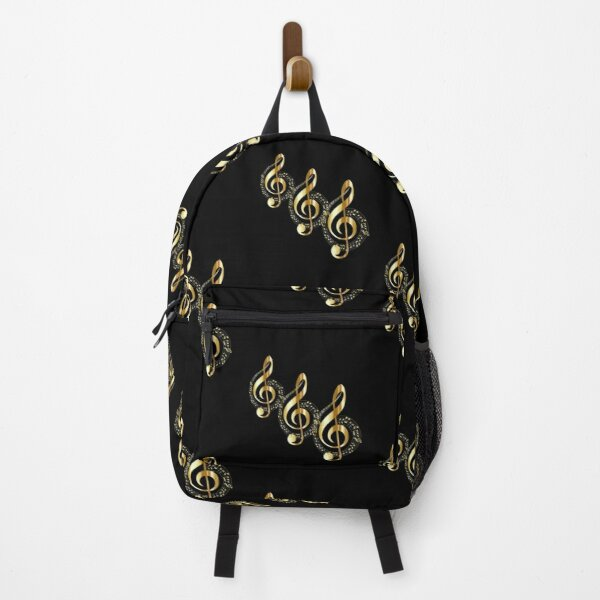 Golden Treble Clefs Backpack