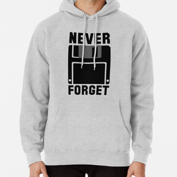 Floppy Disk Never Forget Pullover Hoodie