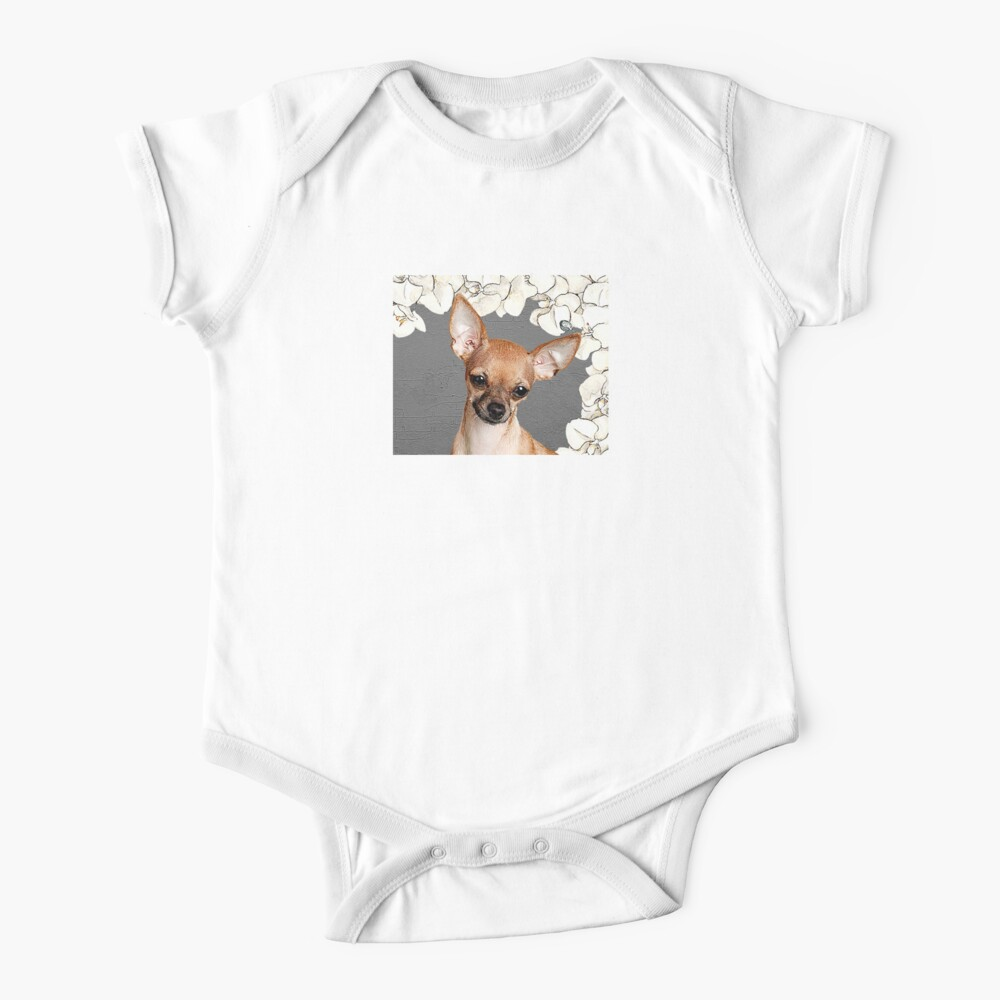 Chihuahua in orchids Baby One-Piece
