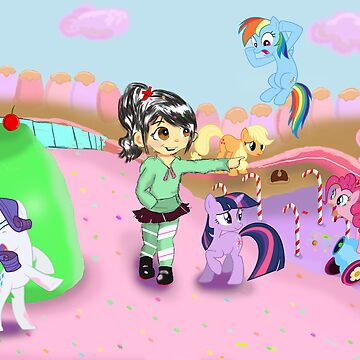 Vanellope and Ponies by tokyoterror