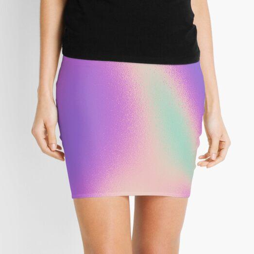 iridescent swirl middle finger gradient  Mini Skirt