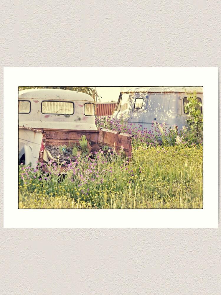 Alternate view of Wrecks and Weeds #1 Art Print