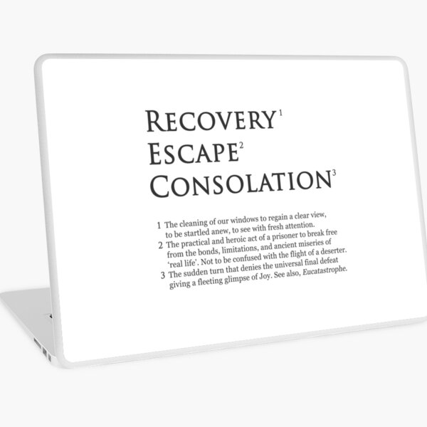 Recovery Escape Consolation Footnotes Laptop Skin