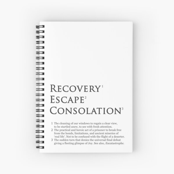 Recovery Escape Consolation Footnotes Spiral Notebook