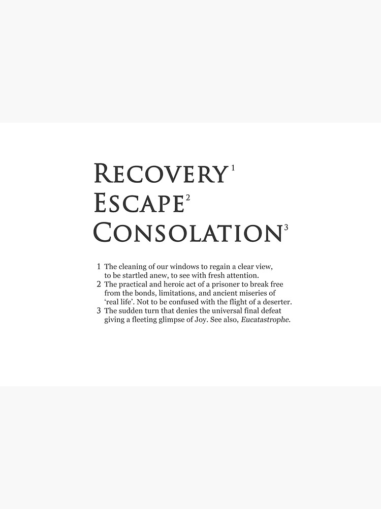 Recovery Escape Consolation Footnotes by SignumStore