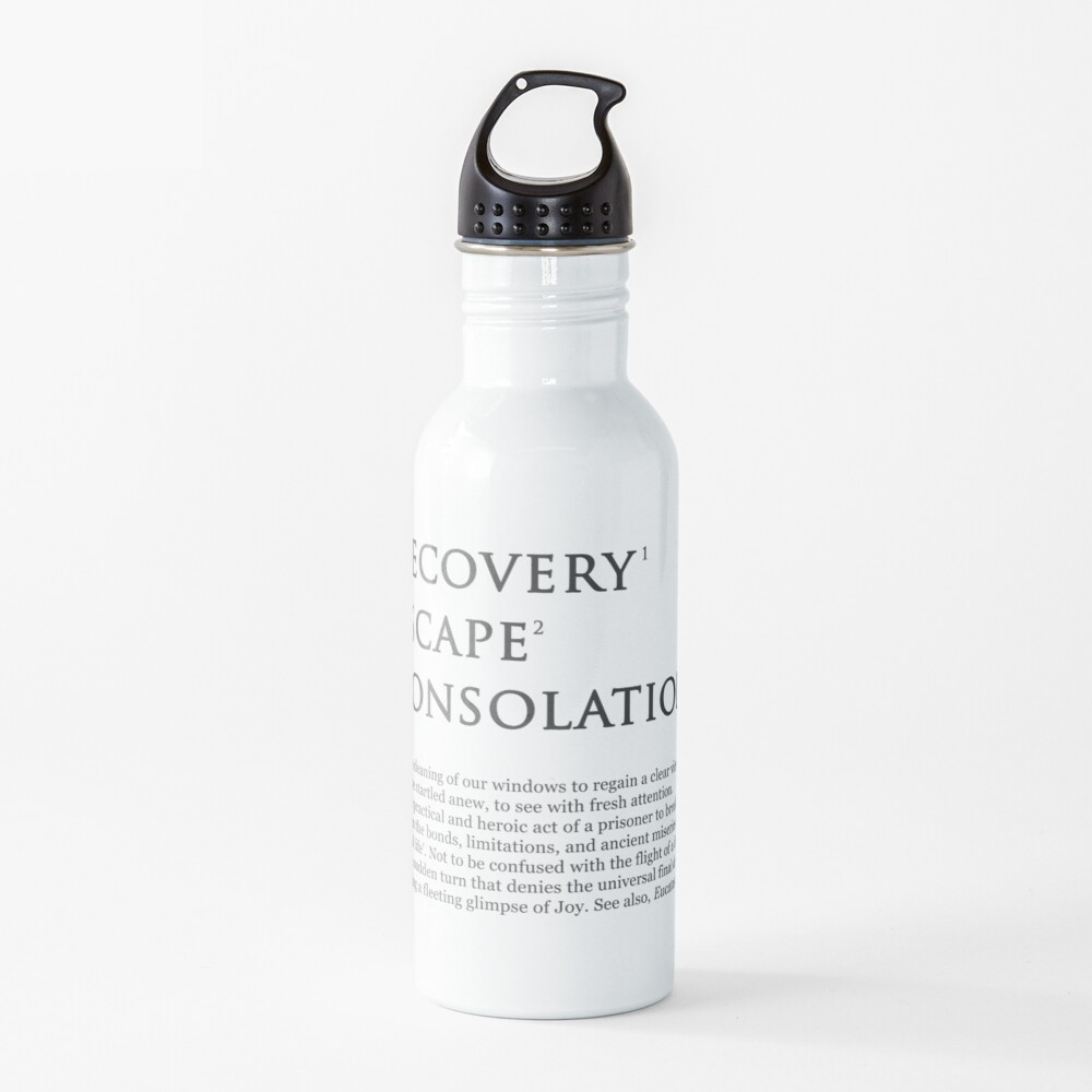 Recovery Escape Consolation Footnotes Water Bottle