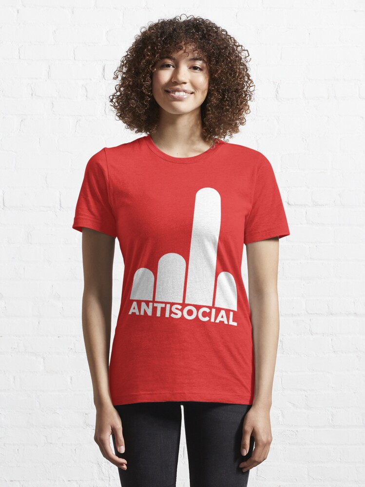 Alternate view of Antisocial Essential T-Shirt