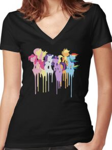 My Little Pony: Mane 6 Women's Fitted V-Neck T-Shirt
