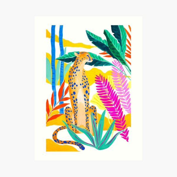 Panther in Jungle Art Print