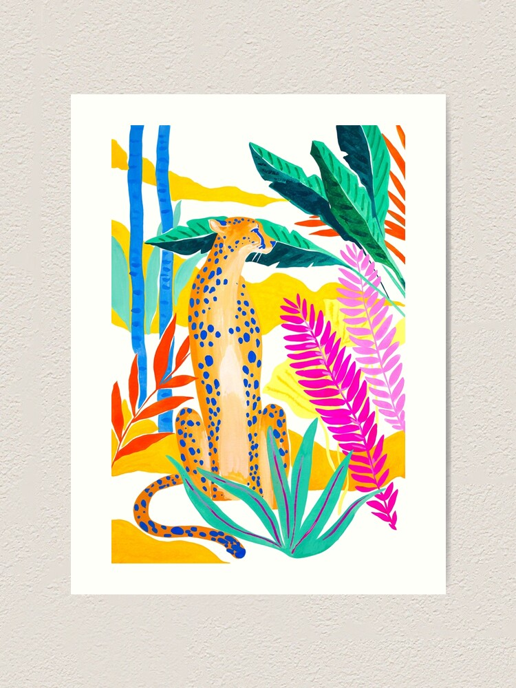 Alternate view of Panther in Jungle Art Print