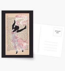 April Lady Dancing Postcards