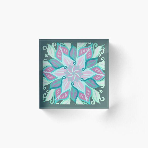 Flowering Acrylic Block