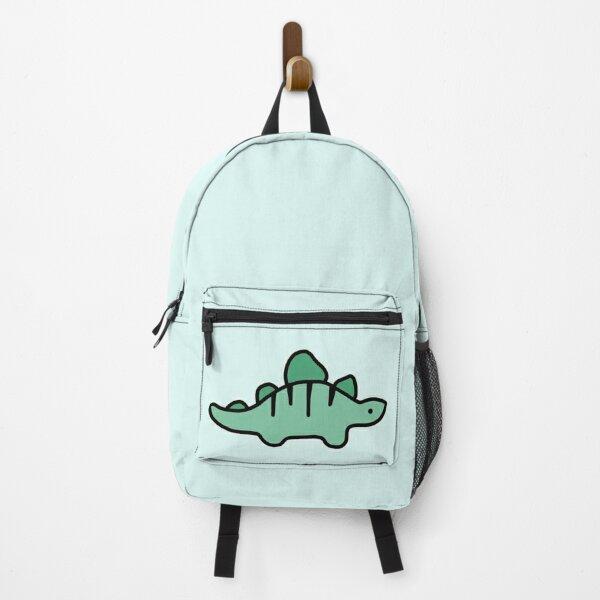 Little Turquoise Stegosaurus Dinosaur Cartoon Backpack