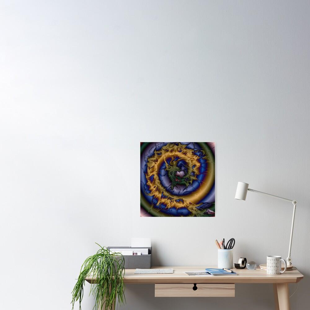 Silken Spiral Poster