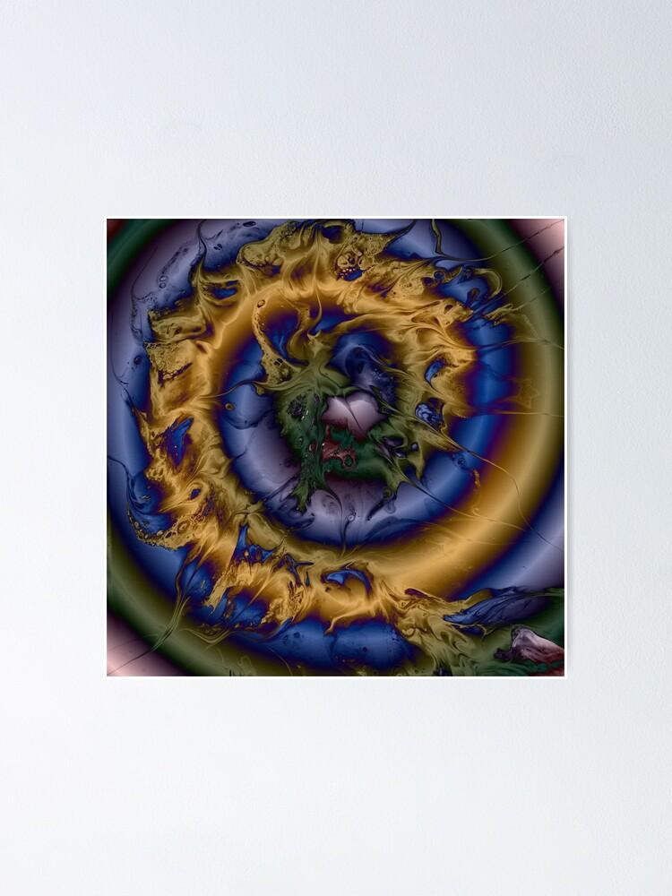 Alternate view of Silken Spiral Poster