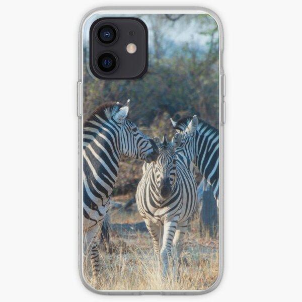 Zebra Herd in Moremi Game Reserve, Botswana iPhone Soft Case