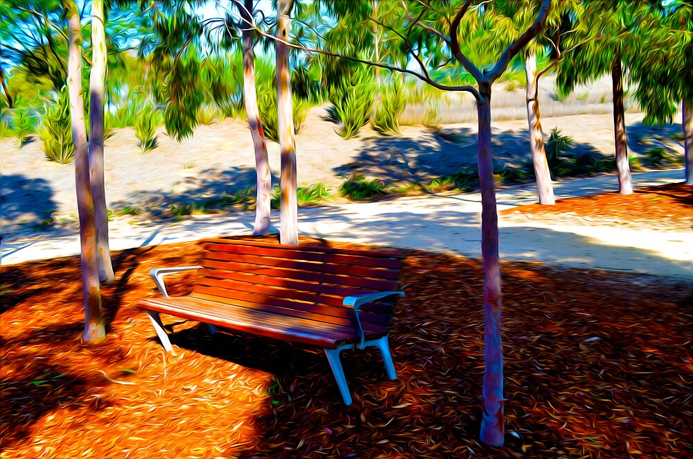 Park Bench by RiverStream