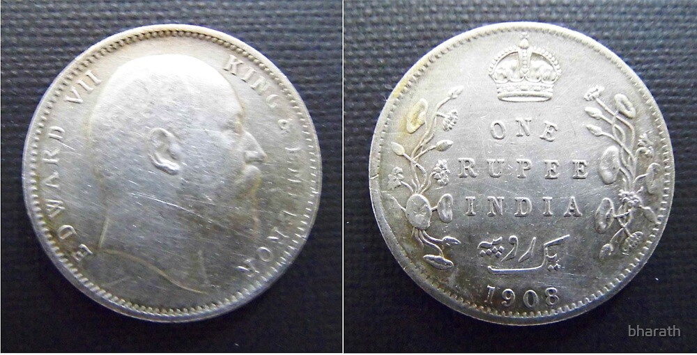 One Rupee 1908 by bharath