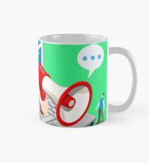Marketing Concept Isometric Mug
