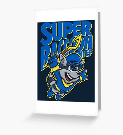 Super Raccoon Thief Greeting Card