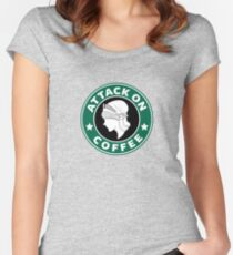 Attack on Coffee Women's Fitted Scoop T-Shirt