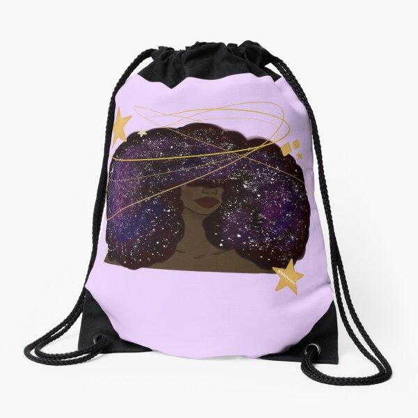 Galaxy Afro Drawstring Bag