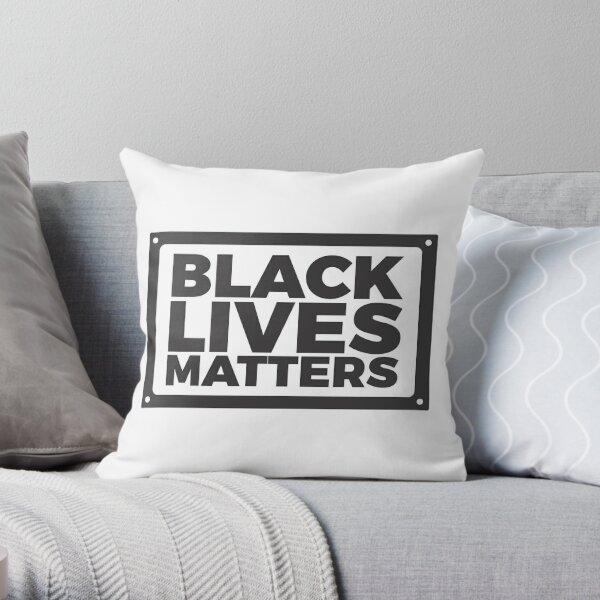 Black lives matters - black Throw Pillow