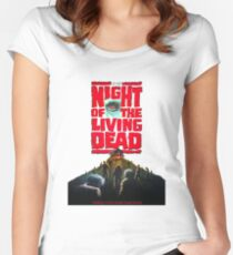 night of the living dead  Women's Fitted Scoop T-Shirt