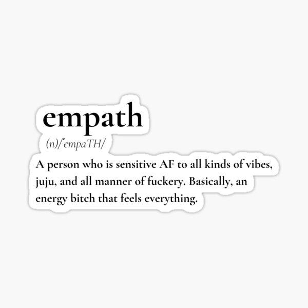 Empath Funny Definition Sticker
