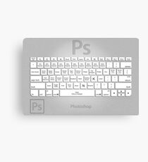 Photoshop Keyboard Shortcuts Metal Tool Names Canvas Print