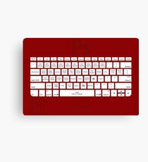 Photoshop Keyboard Shortcuts Red Tool Names Canvas Print