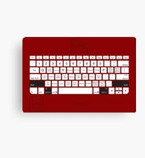 Photoshop Keyboard Shortcuts Red Opt+Shift Canvas Print