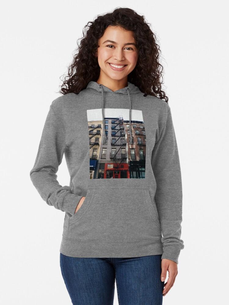 Alternate view of New York City, New York, Brooklyn, Manhattan, building, house, skyscraper, Street View, street Lightweight Hoodie