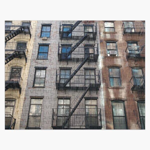 New York City, New York, Brooklyn, Manhattan, building, house, skyscraper, Street View, street Jigsaw Puzzle