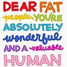 Dear Fat People by Rachele Cateyes