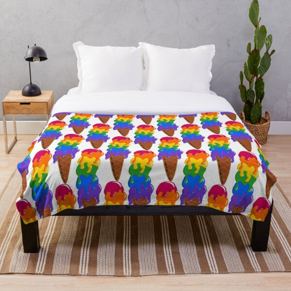 Scooped High for Pride Throw Blanket