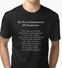 The Ten Commandments Of Employment (White) Tri-blend T-Shirt