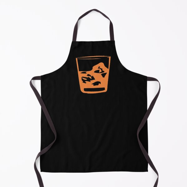 A glas of whiskey Apron