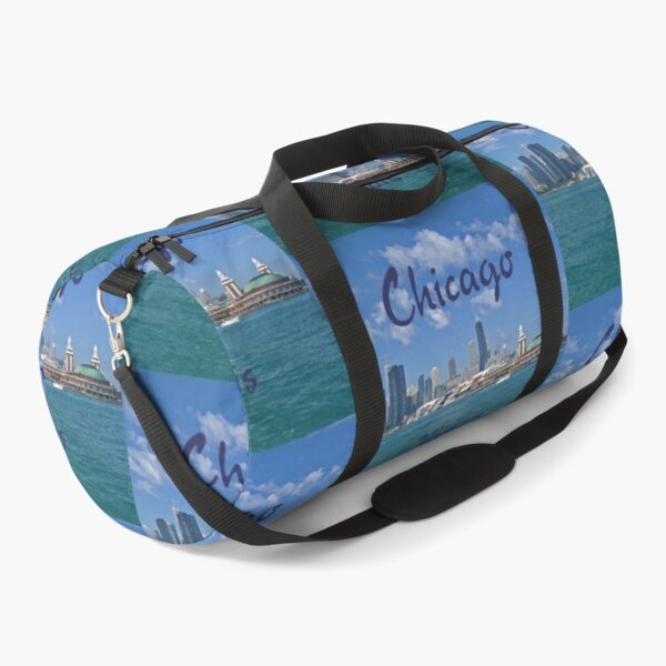 Chicago, Illinois, US - Chicago Skyline and Landmarks - Pier and Lakefront  Duffle Bag