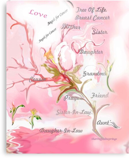 TREE OF LIFE..dedicated to breast and other cancer research by SherriOfPalmSprings Sherri Nicholas-