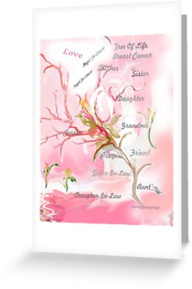 TREE OF LIFE..dedicated to breast and other cancer research by Sherri Palm Springs  Nicholas