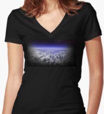 Outer Space Women's Fitted V-Neck T-Shirt