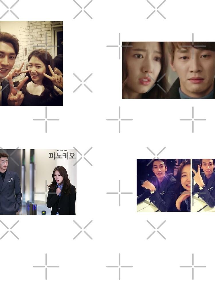 Park Shin Hye + Kim Young Kwang Couple Stickers by kpopkdramamerch