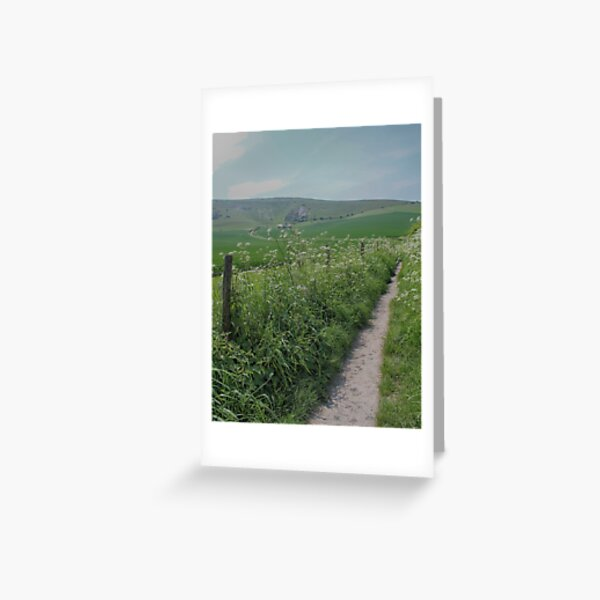 The path to the hill Greeting Card