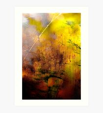 Early Autumn Web Abstract .. Art Print